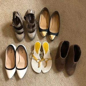 Bundle of Size 6 Booties and Flats